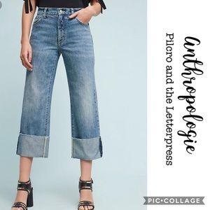 Pilcro / Folio Cuffed Ultra High Waist Jeans